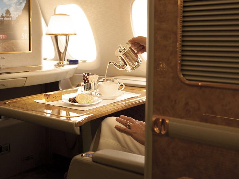 luxo voo primeira classe